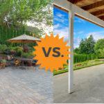 pavers vs concrete patios