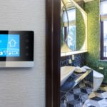 smart screen with smart home with modern bathroom